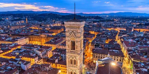 Podzimní Toskánsko letecky: Florencie, Pisa, Bologna