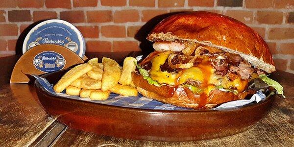 Burger, hranolky a tatarka pro 1 i 2 osoby