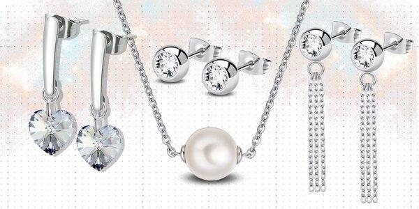 Ocelová kolekce šperků s perlami a krystaly Swarovski®