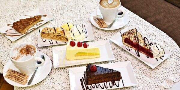 Káva a dort v Pražské čokoládové manufaktuře