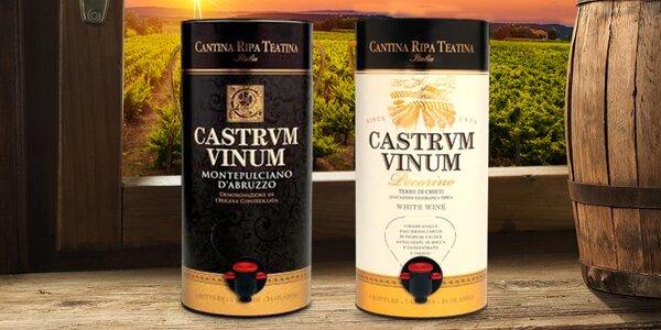 Bag in tube: italské červené a bílé DOC víno