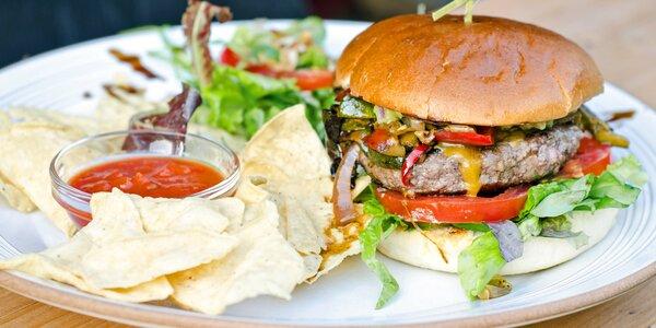 XL burger podle výběru i domácí limonáda