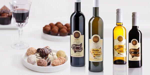 Červené i bílé čokoládové víno ze Slovinska