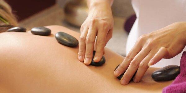 Luxusní masáž lávovými kameny na 60 nebo 90 min.