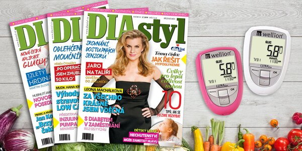 Předplatné časopisu DIAstyl s glukometrem a dárky