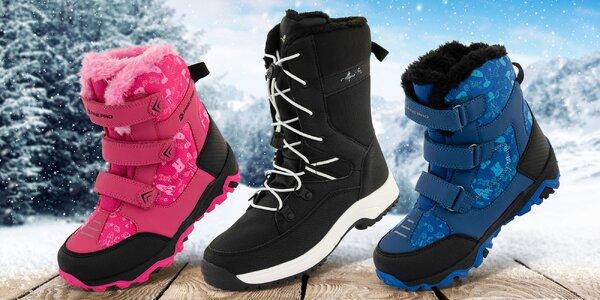 Odolné zimní boty pro děti Alpine Pro