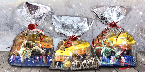 Šťastné a chlupaté: dárkové balíčky pro psy