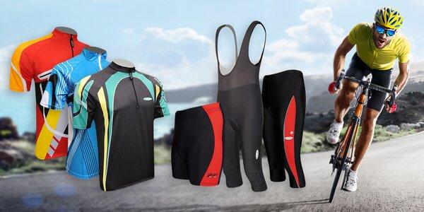 Cyklistické dresy a kraťasy pro pány i dámy
