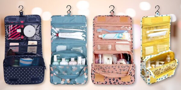 Multifunkční cestovní organizér na hygienu