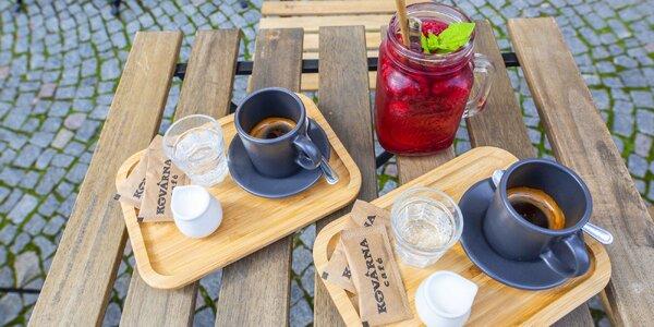 Káva a domácí limonáda v Kovárně dle výběru