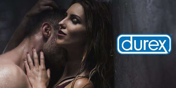 Balíčky Durex: orgasmický i masážní gel, kondomy