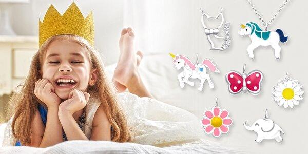Stříbrné řetízky s přívěskem pro malé princezny
