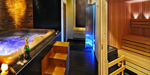 Soukromé spa Klasik pro dva: sauna, vířivka i sekt