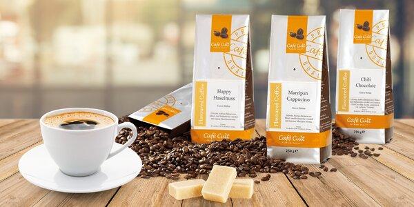 Ochucená zrnková káva Café Cult: 9 příchutí