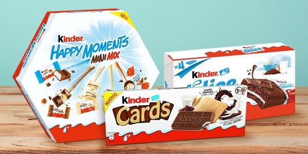 Sladké potěšení: čokolády Kinder Cards i Delice