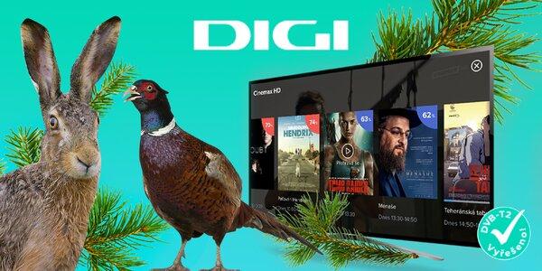 Dvouleté předplatné DIGI TV: 95 programů za 299 Kč