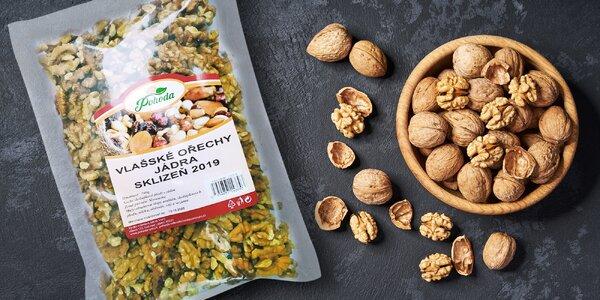 Vlašské ořechy na zobání i pečení: sklizeň 2019