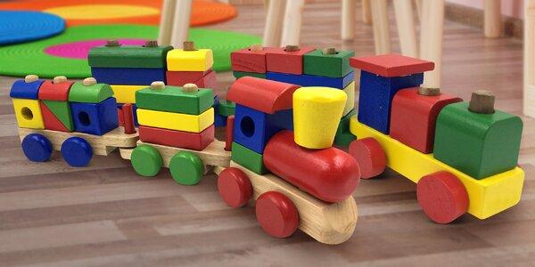 Dřevěné vláčky pro děti: dvě velikosti