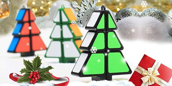 Vánoční hlavolam na principu Rubikovy kostky