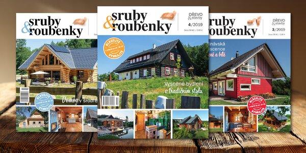 Předplatné čtvrtletního časopisu Sruby&roubenky