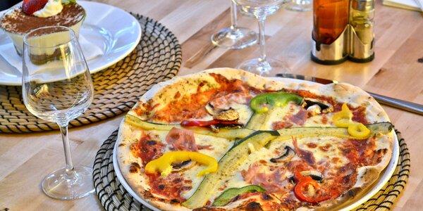 Pizza, domácí limonáda a dezert pro 1–2 osoby