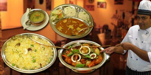 Jakékoli jídlo v indické a nepálské restauraci OM