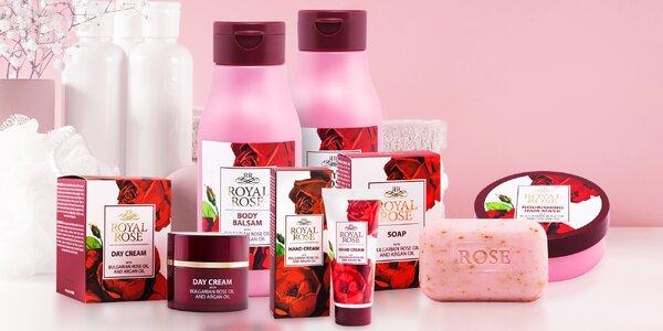 Řada kosmetiky s přírodním arganovým a růžovým olejem