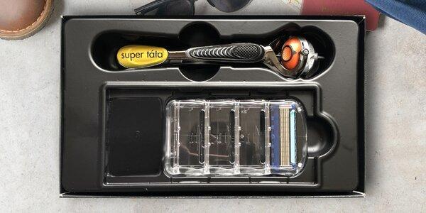 """Holicí strojek Gillette s potiskem """"Super táta"""""""