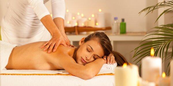 Hodinová relaxace: masáže na výběr ze 7 druhů