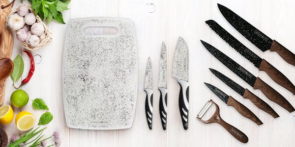 3–6dílné sady nožů i se škrabkou nebo stojánkem