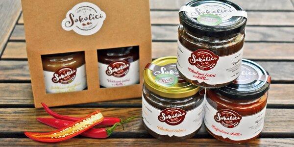 Poctivé chilli omáčky i čatní v dárkovém balení