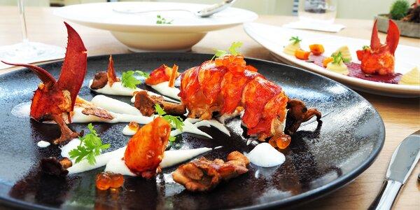 Romantika v luxusní restauraci: humří menu pro 2