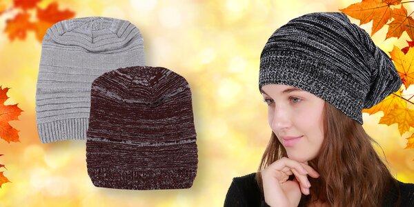 Dámská melírovana čepice v 5 různých barvách