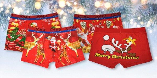 Pánské vánoční boxerky: se Santou i jeleny