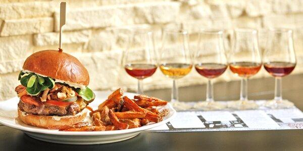 Dejte si do nosu: burger s hranolky a degustace rumů