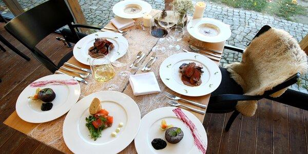 4chodové menu ve vyhlášené restauraci pro 2 osoby