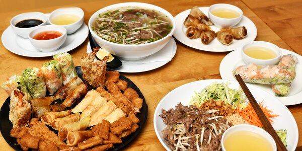 Asijské menu na Andělu podle výběru pro 1 i 2 os.