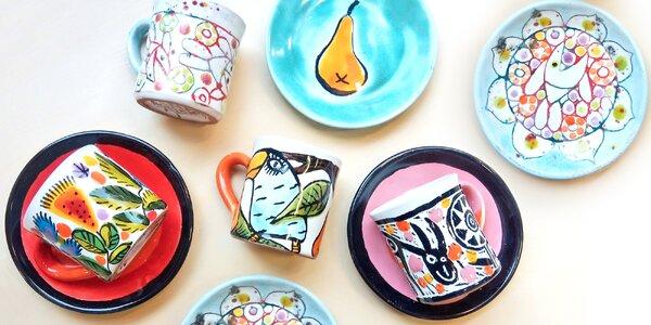 Namalujte si svůj keramický šálek s podšálkem