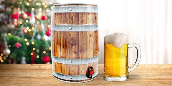 5l soudek limitované vánoční edice piva Auersperg
