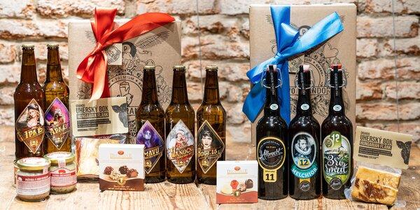 Vánoční dárkové sety piv a dobrot pro dámy i pány