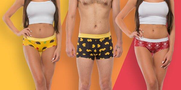 Spodní prádlo s veselými vzory pro dámy i pány