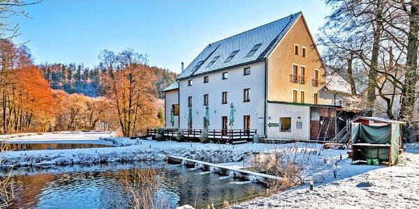 Pobyt v Oderských vrších s polopenzí a saunou