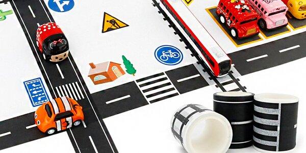 Washi pásky a nálepky: dopravní síť pro vaše autíčka