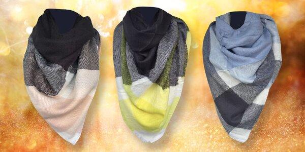 Měkoučké kárované maxi šály v 6 vzorech