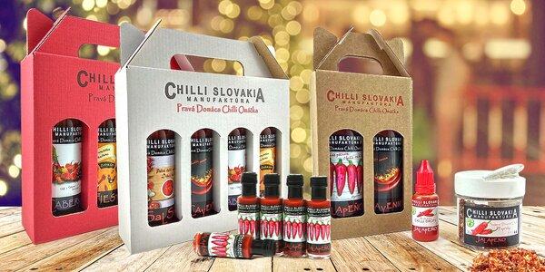 100% přírodní chilli omáčky vč. dárkových balení