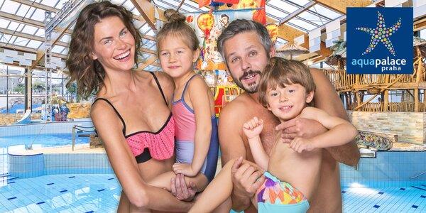 Rodinný vstup do Aquapalace: vodní i saunový svět