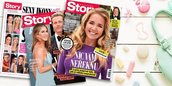 Ze světa celebrit: Roční předplatné časopisu Story