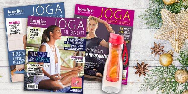 Balíček 3 jóga speciálů Kondice s DVD a láhví