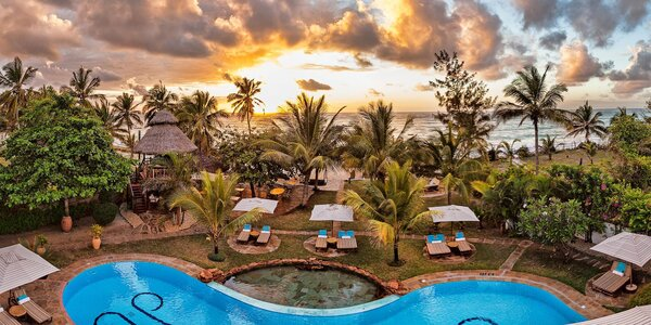 Boutique hotel na pláži Diani v Keni: plná penze