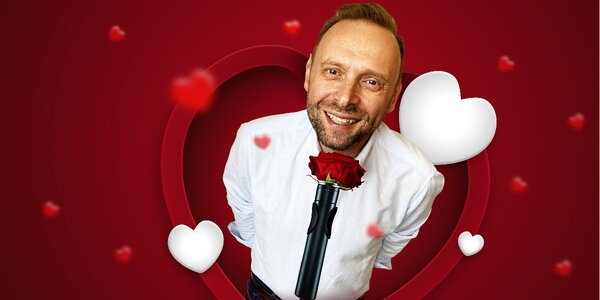 Vstup na valentýnskou stand-up show Miloše Knora